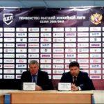 Пресс-конференция главных тренеров после второго матча ХК «Чебоксары» — «Челны».